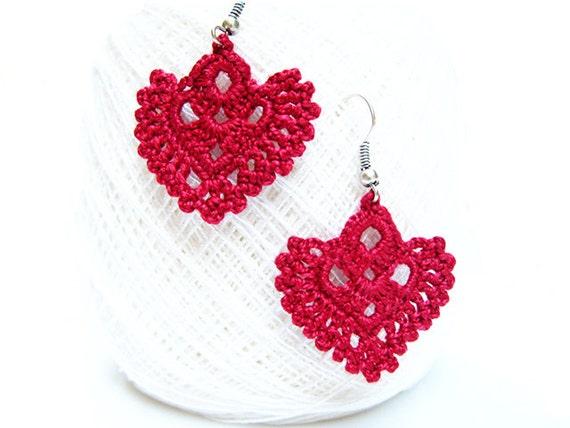 Free Crochet Pattern Heart Earrings Legitefo For