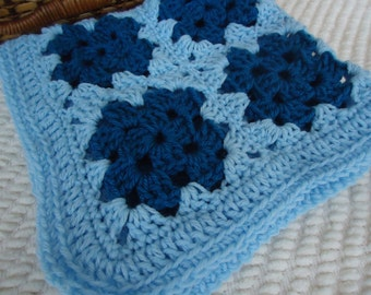 Baby Boys Soft Baby Blankie in Blue and Teal