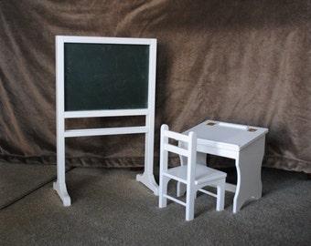 Desk and Chalkboard/Dry Erase Board Combo