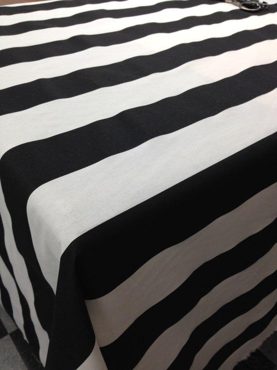 Rts Black And White Stripe Tablecloth 50 X 50 Square