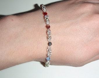 Rainbow Chakra byzantine chainmaille healing bracelet
