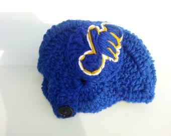 Baby Blues Helmet, NHL Blues baby Shower, Baby Hockey Hat