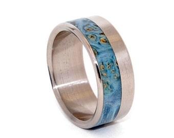 Wooden Wedding Rings, Titanium Wedding Band, wedding rings, titanium rings, men's rings, women's rings, wood rings - MEADOW