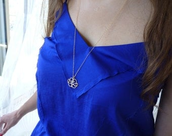 Pearl & Gold Pendant Necklace - 18k Gold Necklace | Handcrafted Jewelry