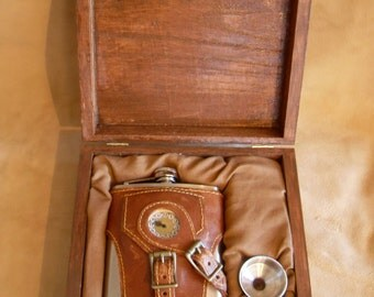 Wooden Display and Gift Box for Any Steampunk Flask