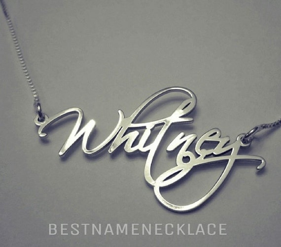 Name Necklaces Personalized Name Necklaces  SOUFEEL