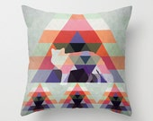 Fox throw pillow cover and pillow insert