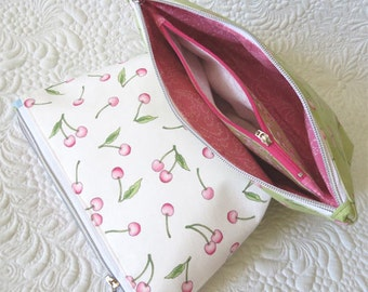 Zippered Pouch Pattern-Bag Organizer Pattern - Cosmetic, makeup bag pattern, Zipper Pocket Pouches