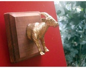 Golden Goat - Faux Taxidermy - Wall Mounted Plaque ****SALE!!!!****
