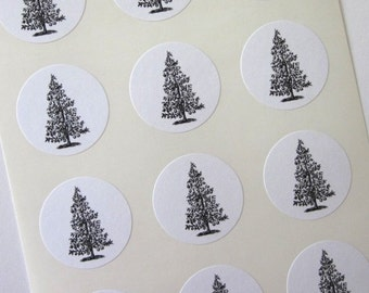 Partridge in a Pear Tree Stickers One Inch Round Seals