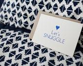 Let's Snuggle - Letterpress Card
