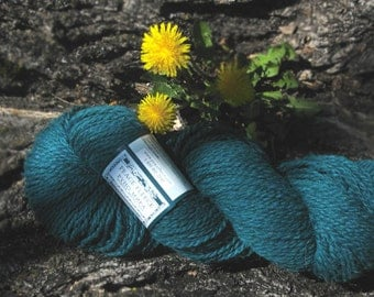 Teal wool yarn worsted - Arctic - wool knitting yarn - Peace Fleece - Soyuz-Apollo Teal - yarn shop - knitting supplies - teal knitting yarn