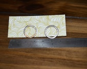 Perfect Cirlce Sterling Silver Hoop Stud Earrings