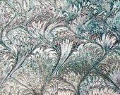 marbled paper, Marmorpapier, Papier marbrè,  Bookbinding  paper, scrapbooks, 19,5
