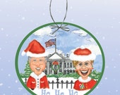 Happy Holidays from the Clintons Paper Ornament