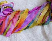 NeW- Hand Dyed AUTUMN BLISS half inch ribbon, 5 yards