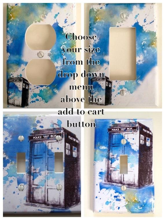 Doctor who tardis decorative light switch cover by idillard for Tardis light switch cover