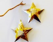 Dry Ginger Soda Stars Christmas Ornaments Soda Can Upcycled