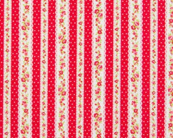 Romantic Memories  Cotton Fabric Cosmo Quilt Gate AP8787-12d red stripe
