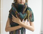Mixed Colors Wool Big Extra Long Scarf Perfect Gift Under 75 For Women For Girl Friend Christmas Gift under75