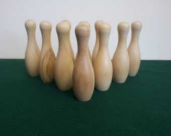 Cue Bowling Pin Set For Pool Tables