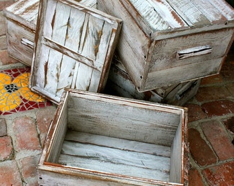 Rustic Wood Home Decor - Mud Room - Storage - Organization - Organize - Remote Control Caddie - Wooden Box - Handmade - Box with Lid - Boxes