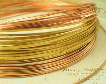 SALE Square Wire - Brass, Bronze and Copper - 1/4 pound Grab Bag