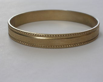Retro Gold Bangle with Decoration 1950s