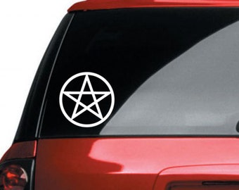 Pentagram Vinyl CAR DECAL Pagan Wiccan Sticker