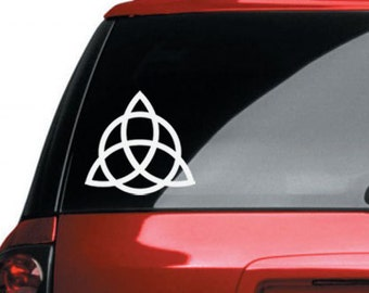 Triquetra Vinyl CAR DECAL Pagan Wiccan New Age Celtic Art