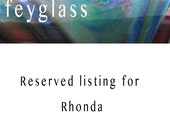 RESERVED for Rhonda  - Lampwork beads  -  Pastel Squares