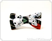 Skulls and Roses Black Bow tie
