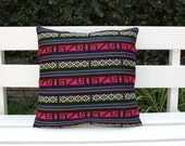 Was 39 now on clearance Multi colored black  pillow sham Ready to ship.