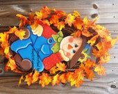 Wooden Scarecrow ,Wall Hanging, Fall, Autumn, Home decor, Holidays, Hand painted Wood Sign, Fall, Thanksgiving, Greeting, Fall, Harvest