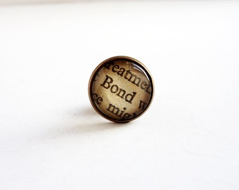 James Bond Tie Pin, Mens Accessories, Bronze Tie Pin, Book Lovers Gift Idea, James Bond Gift, Dad Gift Idea