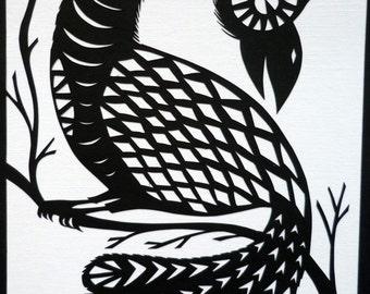 Peacock - Original Papercut Art