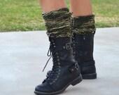 Knit leg warmers camouflage camo gaiters girls leg warmers