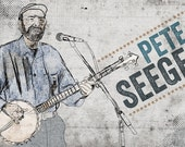 Pete Seeger Poster  - Limited Edition of 100 - Folk Music