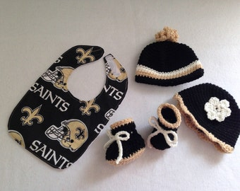 New Orleans Saints baby gift set(size 0 to 6 months or 6 to 12 months))