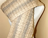 Subtle Stripe Wool Scarf