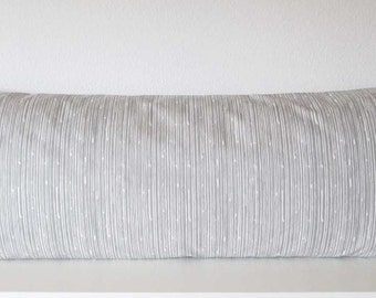 Body pillow cover - Grey - White - Uneven Stripes -  Scribble Stripes - 20x54 - Body pillow case