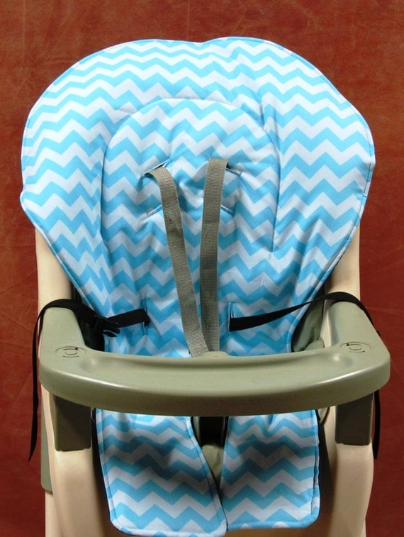 Graco High Chair Cover Pad Replacement Turquoise Zigzag