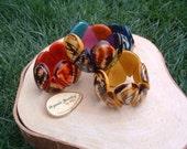 Ergonomic tagua nut drops bracelet marble natural look ecofriendly/tagua jewelry