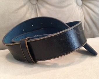 Black Leather Belt Strap xs-xxl Handmade By Buckle It