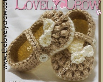 Fancy Mary Janes Crochet Pattern LITTLE BO PEEP Mary Janes