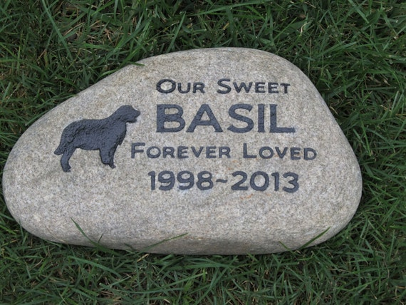 Personalized Pet Memorials Stone Golden Retriever Gravestone