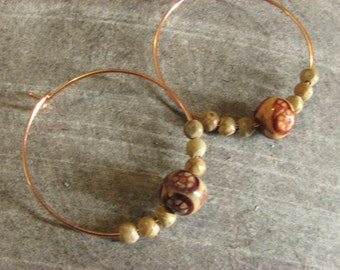 Hoops with beads!