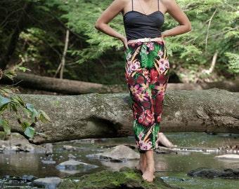 Floral Tropical Jungle High Waist Pants