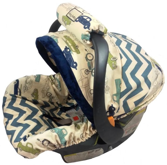Chevron Boy Infant Seat Cover Baby Car Seat By
