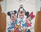 Handpainted Hand painted Boutique custom shirt size 12 18 24 2 3 4 5 6 7 8 9 10 12 ETSYKIDS